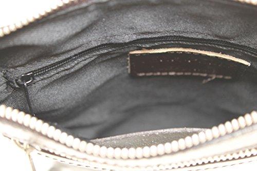 Brown Italiènne Chicca 100 22x24x4cm Avec Peau Qualitè Elègante Sac Dark Tutto Vrai En Moda Bandoulière De Ctm Italienne rrT7q