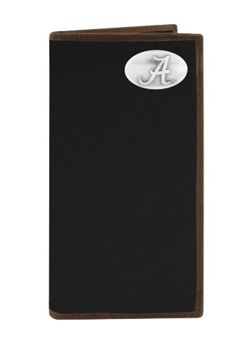 NCAA Alabama Crimson Tide Nylon Long Secretary Concho Wallet, Black