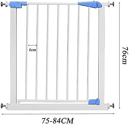 Ccgdgft Puerta de Seguridad for niños - Libre de perforación - Altura 76cm - Instalado en la Escalera/Puerta de la Cocina - Baby/Aislamiento Mascota Puerta - Azul (Size : 165-174CM): Amazon.es: Hogar
