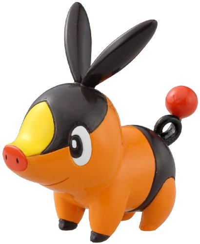 Takaratomy Pokemon Black and Orange Monster Collection Figure - M-002 - Pokabu/Tepig