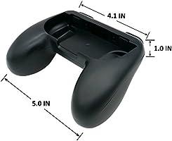 Controladores de juego Nintendo Switch Webat Joy-Con Grip Kits Ergonómico Nintendo Switch Grip Handle Handheld funda protectora para todos los conmutadores de Nintendo (paquete de 2, negro): Amazon.es: Videojuegos