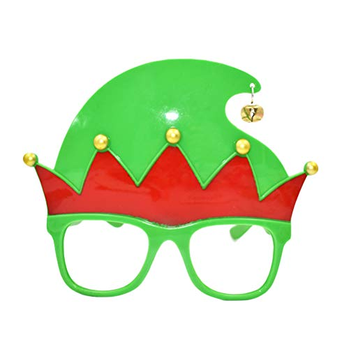 BESTOYARD Lovely Christmas Elf Glasses Frame Photo Props Party Favors Supplies for Kids Adults Birthday Costume Party Cosplay ()