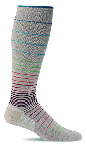 Sockwell Women's Circulator Graduated Compression Socks, Medium/Large(8-11), Barley -