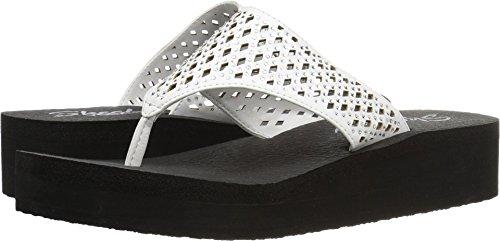 Skechers Cali Women's Vinyasa #Flow Wedge Sandal, White Cutout, 10 M US