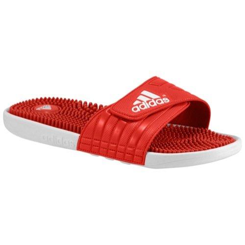 best service ba11b c3fa3 adidas Mens Adissage GR Upper M Slide Sandal, ScarletWhiteUniversity Red,