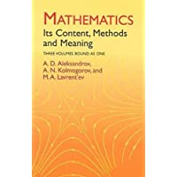 Mathematics: Its Content, Methods and Meaning : Three Volumes Bound As One