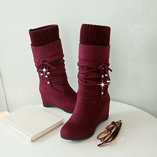En Zapatos Martin Redonda Botas Un Y Y Tipo Gules Frosted Planteadas Nuevo Estudiante Otoño KHSKX Peluche ModaTreinta Invierno Mujer De Botas Cabeza Botas En Inner CincoDe De De ZOqntwR