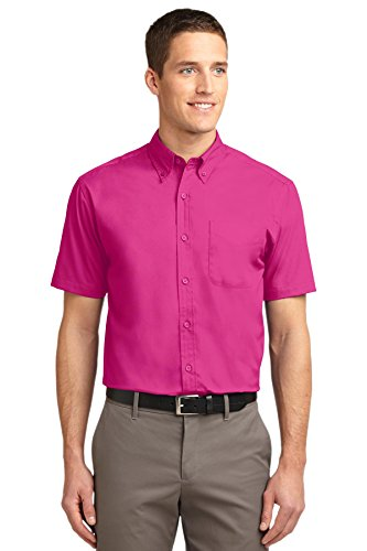 Port Authority Men's Short Sleeve Easy Care Shirt 4XL Tropical Pink (Tropical Oxford)