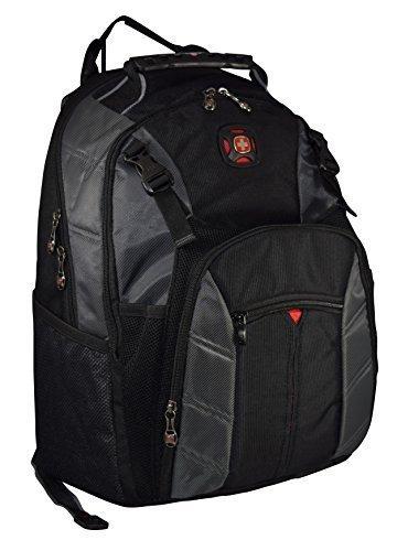 "SwissGear The Sherpa 15.6"" Padded Laptop Backpack/School Travel Bag (Black-Charcoal)"