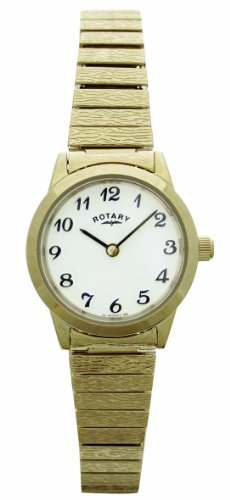 Rotary LB00762 Ladies Expander Gold Plated Watch