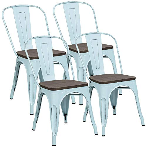 Metal Dining Chairs with