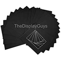 The Display Guys Pack of 25 Pre-Cut 11x14 Black Picture Mats Board with White Core Bevel Cut for 8x10 Photo (25 pcs black mat board only)