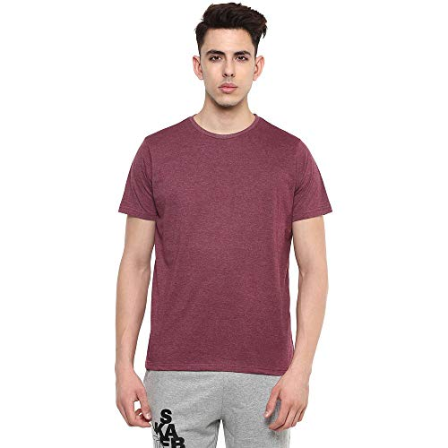 STOP by Shoppers Mens Round Neck Slub T-Shirt Pack of 3 (Brown_Large)