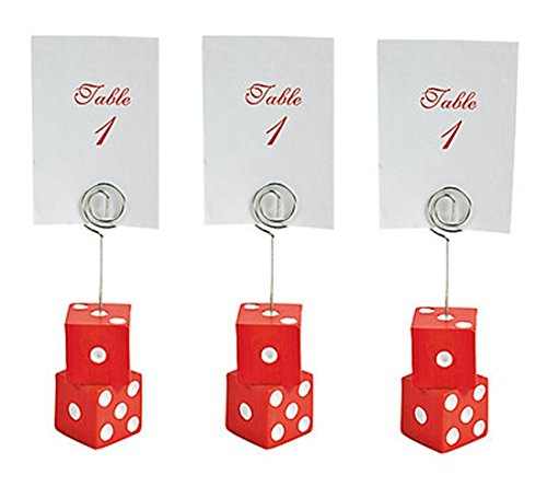 Casino Dice Place Card Holders Set of 3 for Casino Night Great For Poker Night