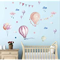 Colourful Hot Air Balloons Wall Decals Stickers Kids...