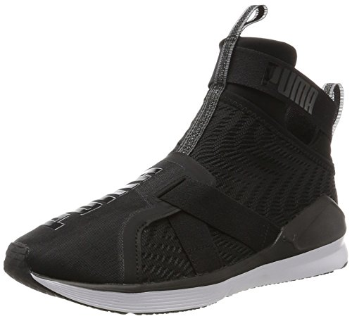 Puma Women's Fierce Strap Swirl Fitness Shoes, Black/White Black (Black-white 01)