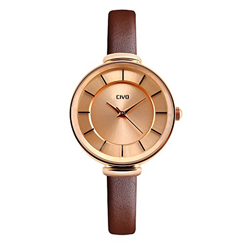 civo-womens-slim-brown-genuine-leather-band-luxury-waterproof-wrist-watch-business-casual-rose-gold-
