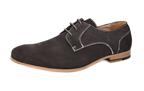 Bruno Marc Men's Constiano-1 Coffee Suede Leather Oxfords Shoes - 6.5 M US