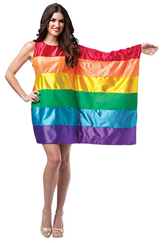 Womens Halloween Costume- Flag Dress Rainbow Adult Costume