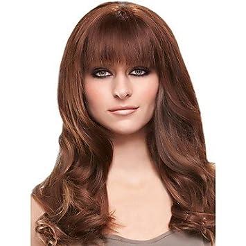 GSP-recta alta mejor fibra temperatura r pelucas plena explosión el flequillo postizo para las