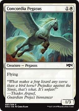 Magic: the Gathering - Concordia Pegasus - Pegaso di Concordia - Ravnica Allegiance: Amazon.es: Juguetes y juegos
