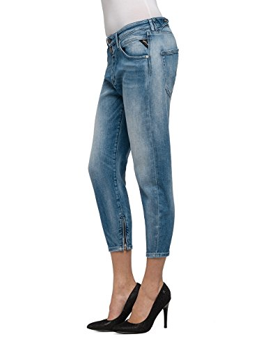Mujer Pilar Jeans 10 Zip Blue Boyfriend para Denim REPLAY Azul Ankle Light dYqwHgSxnS
