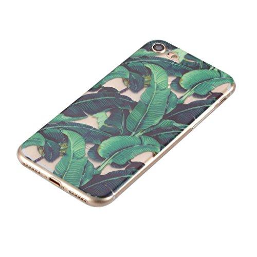 Custodia per iPhone 7 ,JIENI Trasparente Cover TPU di Canna albero Modello Disegno Silicone Bumper Case per Apple iPhone 7