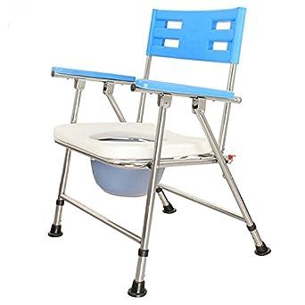 Amazon.com: Silla de inodoro plegable XIHAA sillas de equipo ...