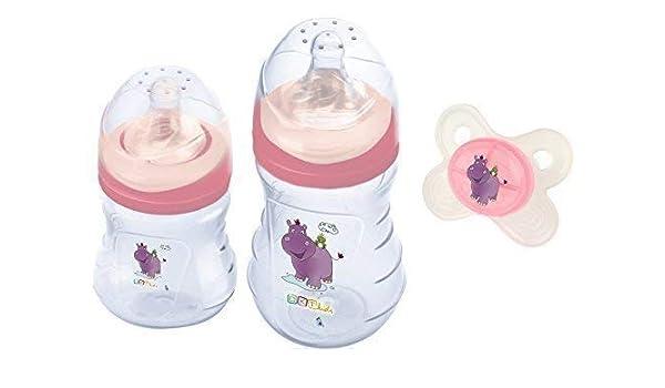 Juego de 3 Bebé Botella de Cuello Ancho Premium 150ML +250ML ...