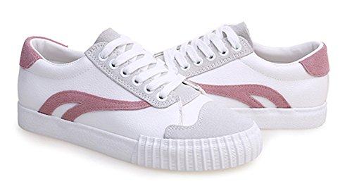 zapatillas cordones con Aisun redonda plataforma de punta rosa bajos pisos zapatillas Comfy transpirable skate 8pwzqAv