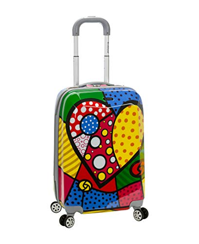 Rockland 20 Inch Polycarbonate Carry On, Heart, One for sale  Delivered anywhere in USA