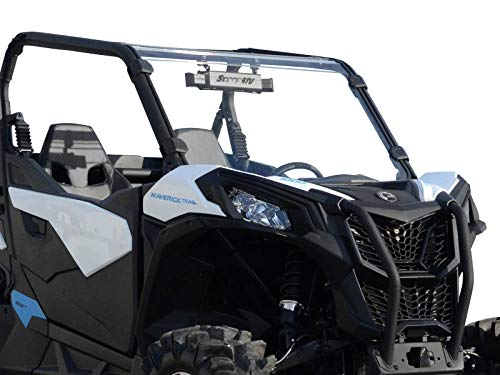 (SuperATV Heavy Duty Scratch Resistant Full Windshield for Can-Am Maverick Sport 1000 (2019+) - Installs in 5 Minutes!)