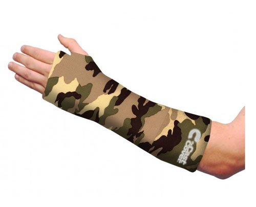 Short Arm Cast Cover - Green Camouflage (Youth L)