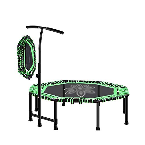 """Caixia jumpsport, 48"""" Trampoline -with Stable Handle - Octagonal - Four Fold - Adult Or Children's Fitness Equipment (Color : Green)"""