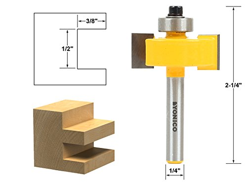(Yonico 14187q Slot Slotting & Rabbeting Router Bit with 1/4