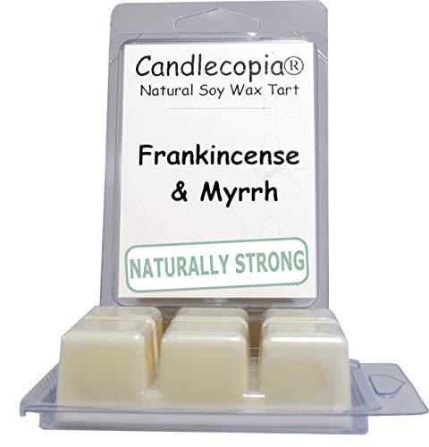 Candlecopia Frankincense & Myrrh Strongly Scented Hand Poured Vegan Wax Melts, 12 Scented Wax Cubes, 6.4 Ounces in 2 x 6-Packs