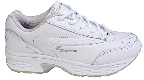 Classic Womens Spira Walking White Leather Shoes White SWW202 5wwqCHT