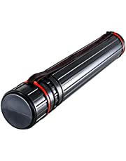 US Art Supply Large Black Telescoping Drafting Tube: Diameter: 5 3/8 inch, Length: 29 1/2 to 53 inches