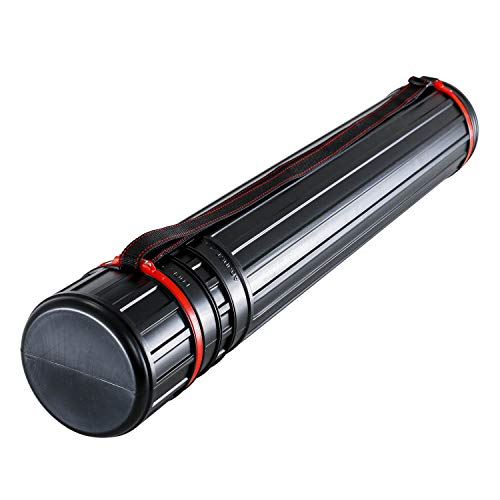 Plastic Telescoping Tube - US Art Supply Large Black Telescoping Drafting Tube: Diameter: 4-7/8 inch OD, 4-1/2