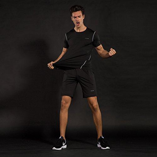Compression 163515 Fitness Homme Jogging Rapide Running Courtes Pour Pièces Workout Avec Sport Séchage De Manches Football Shirt Sportswear Vêtements 3 collant Ensemble short Cyclisme Niksa Tenue 4qxRf88
