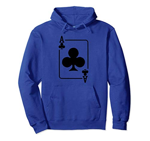 Ace of Clubs Playing Card Halloween Costume Hoodie -