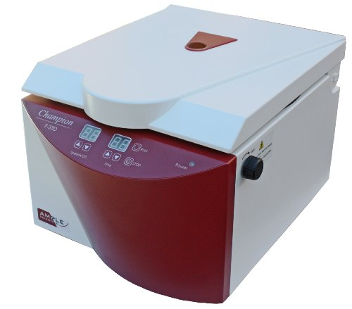 Ample Scientific Champion F-33D 8-Place Fixed Angle Digital Bench-Top Centrifuge, 15mL Capacity, 550-3300rpm Speed (Small Benchtop Centrifuge)