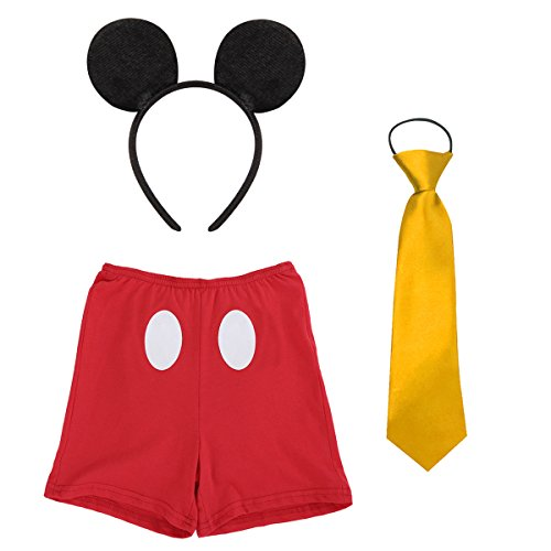 Cake Smash Mickey Outfit Baby Boy First Birthday Party Wedding Bottoms Photography Props 3pcs Clothes Set Halloween Costume #3 Boxer Red 2-3 Years