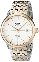 Rotary Men's gb90061/06 Analog Display Swiss Automatic Two Tone Watch