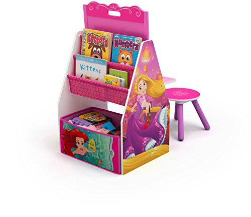 Princess Toy Chest - Delta Children Activity Center with Easel Desk, Stool, Toy Organizer, Disney Princess