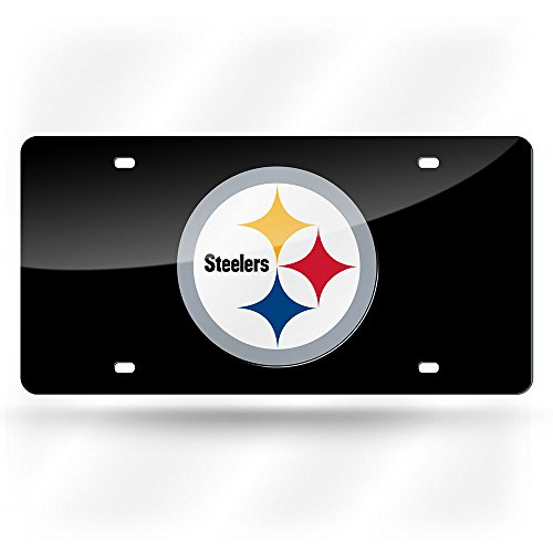 Rico Pittsburgh Steelers Laser Cut Black License Plate from Rico Industries