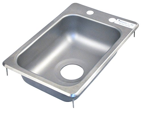 - BK Resources BK-DIS-1014-5D Stainless Steel 1 Compartment Drop in Sink with 10