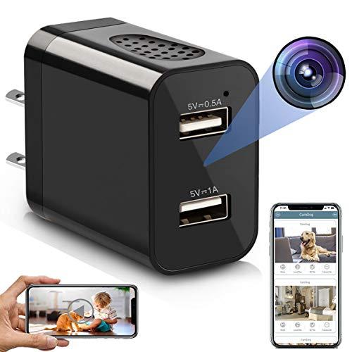 Spy Camera Wireless Hidden WiFi Charger Camera with Remote View – 1080P HD Hidden Nanny Cam – USB Hidden Spy Camera…