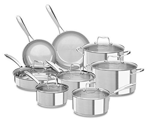 kitchen aid 14 piece cookware - 1