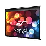 Elite Screens Manual Series, 100-INCH 4:3, Pull Down Manual Projector  Screen with AUTO LOCK, Movie Home Theater  8K / 4K Ultra HD 3D Ready, 2-YEAR WARRANTY , M100UWV1